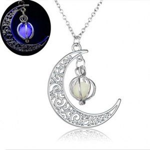 Jewelry - purple crescent moon necklace